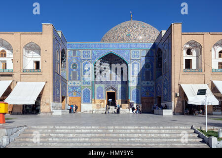 Lotfollah Mosque entrance, Isfahan, Iran - Stock Photo