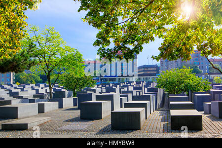 Monument to the Murdered Jews of Europe in Berlin - Stock Photo