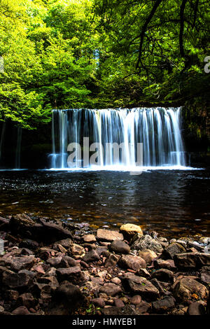Brecon Beacons waterfall - Stock Photo