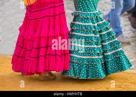 woman flamenco dress - Stock Photo