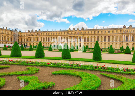 VERSAILLES, FRANCE - JULY 02, 2016 : Beautiful Garden in a Famous Palace of Versailles (Chateau de Versailles), - Stock Photo