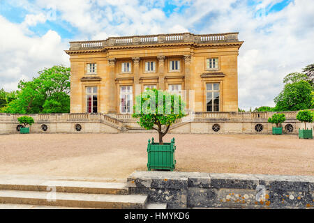 VERSAILLES, FRANCE - JULY 02, 2016 : Petit Trianon-beautiful palace in a Famous Palace of Versailles (Chateau de - Stock Photo