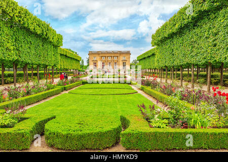 VERSAILLES, FRANCE - JULY 02, 2016 : Petit Trianon-beautiful Garden in a Famous Palace of Versailles (Chateau de - Stock Photo