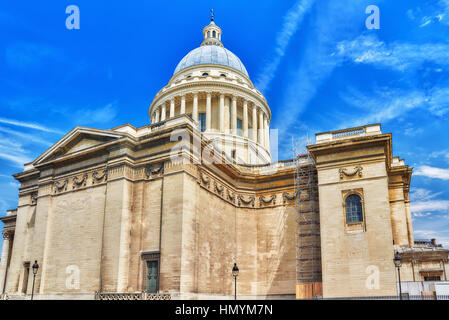 French Mausoleum of Great People of France - the Pantheon in Paris. - Stock Photo
