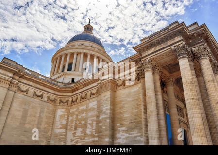 French Mausoleum of Great People of France - the Pantheon in Paris. France. - Stock Photo