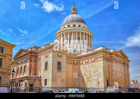 PARIS, FRANCE - JULY 08, 2016 : French Mausoleum of Great People of France - the Pantheon in Paris. - Stock Photo
