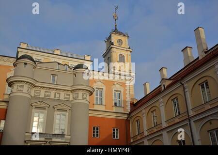 VILNIUS, LITHUANIA - DECEMBER 29, 2016: View from the Observatory courtyard inside Vilnius University - Stock Photo