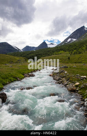 landscape at herdalssetra mountain summer farm, møre og romsdal, norway - Stock Photo