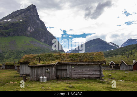 herdalssetra mountain summer farm, møre og romsdal, norway - Stock Photo