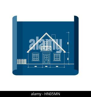 Blueprint icon - Stock Photo