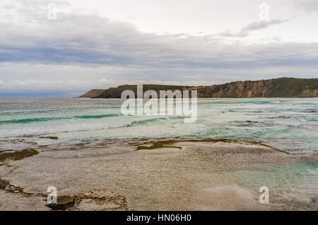 Pennington Bay in stormy weather landscape. Kangaroo Island, South Australia - Stock Photo