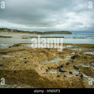 Low tide at Pennington Bay, Kangaroo Island, South Australia - Stock Photo