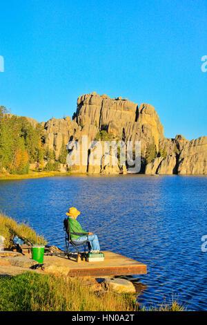 Sylvan Lake, Custer State Park, Black Hills, South Dakota, USA, - Stock Photo