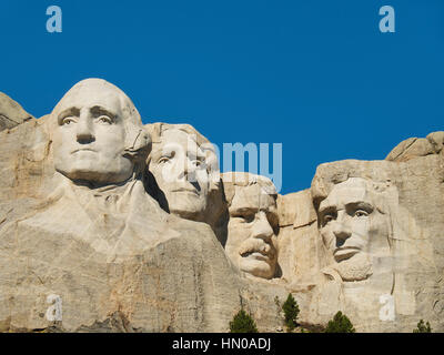 Mt. Rushmore National Memorial, Rapid City, South Dakota, USA - Stock Photo
