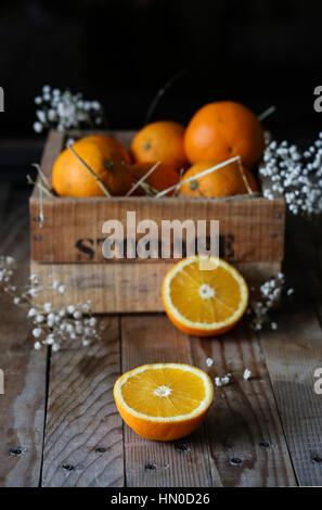 Halfed oranges - Stock Photo