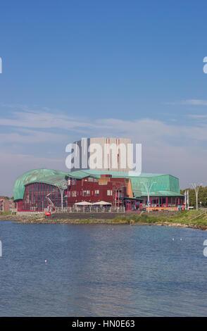 City theater at the IJsselmeer lake in Hoorn, Netherlands - Stock Photo