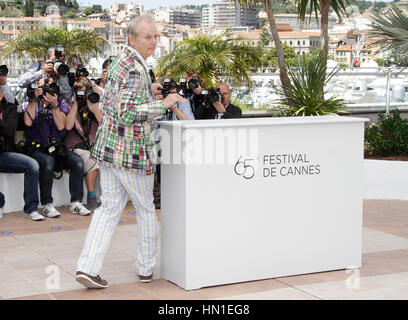 Bill Murray arrives at the photo call for the film, 'Moonrise Kingdom' during the 65th Cannes Film Festival in Cannes, - Stock Photo