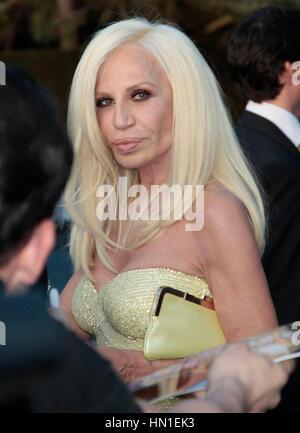 Italian fashion designer Donatella Versace at the press ...