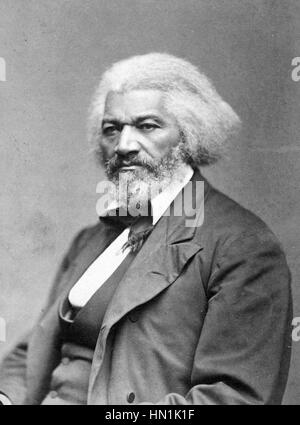 FREDERICK DOUGLASS (1818-1895) African-American social reformer about 1874. - Stock Photo