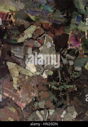 Mikhail Vrubel - the Seated Demon (fragment) - Stock Photo
