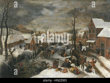 Lucas van Valckenborch - The Massacre of the Innocents - Stock Photo