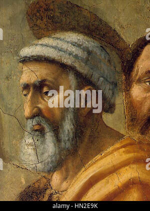 Masaccio - The Distribution of Alms and the Death of Ananias (detail) - WGA14185 - Stock Photo