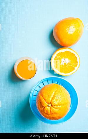 fresh made orange juice - Stock Photo