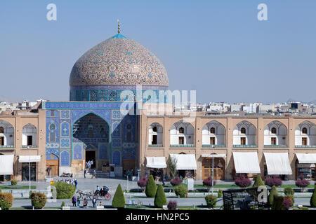 Sheikh Lotfollah Mosque at Imam square in Isfahan, Iran - Stock Photo