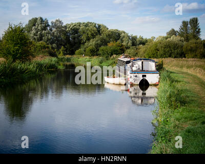 Boats on the River Stort - Stock Photo