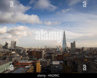 The Shard shot from the Viewing Level at the Tate Modern - Stock Photo