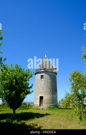 windmill, france, europe, travel, landscape, mill, countryside, agriculture, field, landmark, wind, farm, country, - Stock Photo