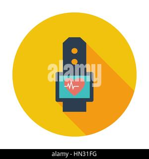 Pulsometer. Single flat color icon. Vector illustration. - Stock Photo