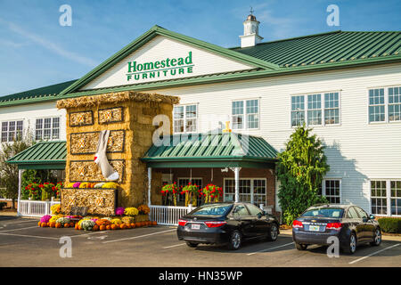 The Homestead Furniture Store In Mt. Hope, Ohio, USA.   Stock Photo
