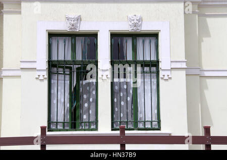 Hohenzollern House which was built as a hotel at Swakopmund in Namibia - Stock Photo