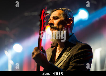 Bergamo, Italy 27 January 2017. Italian indie rock band Marlene Kuntz (Onorate il vile tour) perform at music club - Stock Photo