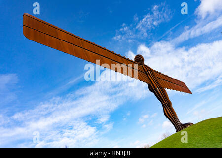 Anthony Gormleys Angel of the North Sculpture  in Gateshead - Stock Photo