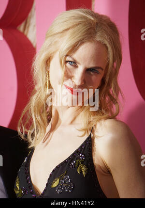 Los Angeles, USA. 07th Feb, 2017. Nicole Kidman arriving at the Big Little Lies premiere at the TCL Chinese Theatre - Stock Photo