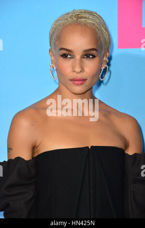Los Angeles, USA. 07th Feb, 2017. Actress Zoe Kravitz at the premiere for HBO's 'Big Little Lies' at the TCL Chinese - Stock Photo