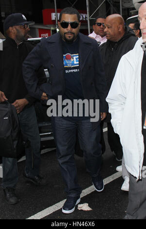 New York, NY, USA. 8th Feb, 2017. Ice Cube seen arriving to NBC's Today Show promoting his new film, Fist Fight - Stock Photo