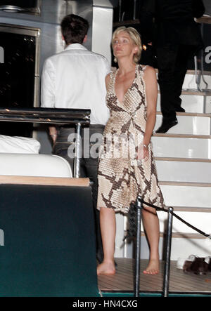 Sharon Stone on Roberto Cavalli's yacht at the Cannes Film Festival in Cannes, France, on May 19, 2007. Photo credit: - Stock Photo