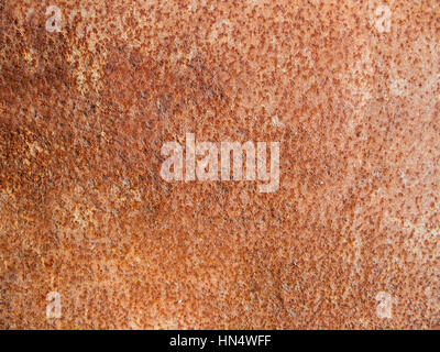 Background of a metal plate corroded with rust texture - Stock Photo