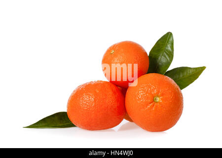 Clementines isolated on white background - Stock Photo