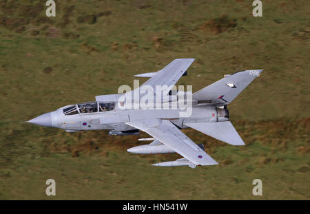 RAF Tornado GR4 aircraft on a low level flying exercise in Wales, UK, November, 2016. - Stock Photo