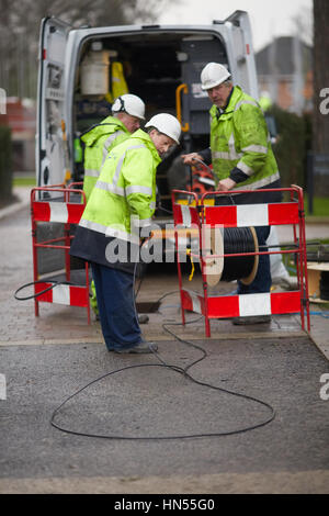 A Bt Openreach Fibre Broadband Street Cabinet Stock Photo
