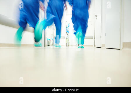 Part of doctors in a hurry - Stock Photo
