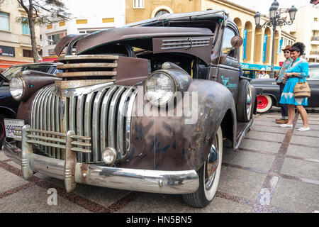 Chevrolet Pickup 1946, the fifties at 2016 Rockabilly festival, Rockin Race Jamboree, Torremolinos, Andalusia, Spain. - Stock Photo