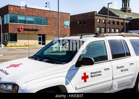 Indianapolis - Circa February 2017: American Red Cross Disaster Relief Van. The American National Red Cross provides - Stock Photo