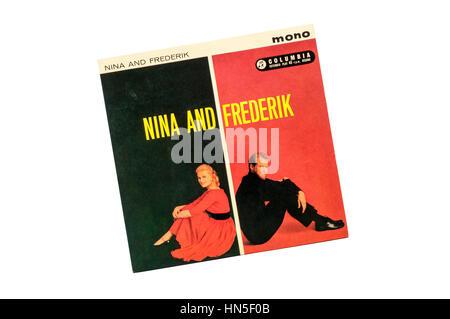 EP Nina and Frederik.  Released on the Columbia record label in 1961. - Stock Photo