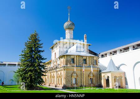 Hodegetria Church - one of the churches in the Rostov Kremlin, Yaroslavl oblast, Russia. Golden Ring of Russia. - Stock Photo