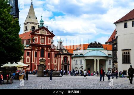 St. George's Basilica in Prague Castle - Stock Photo